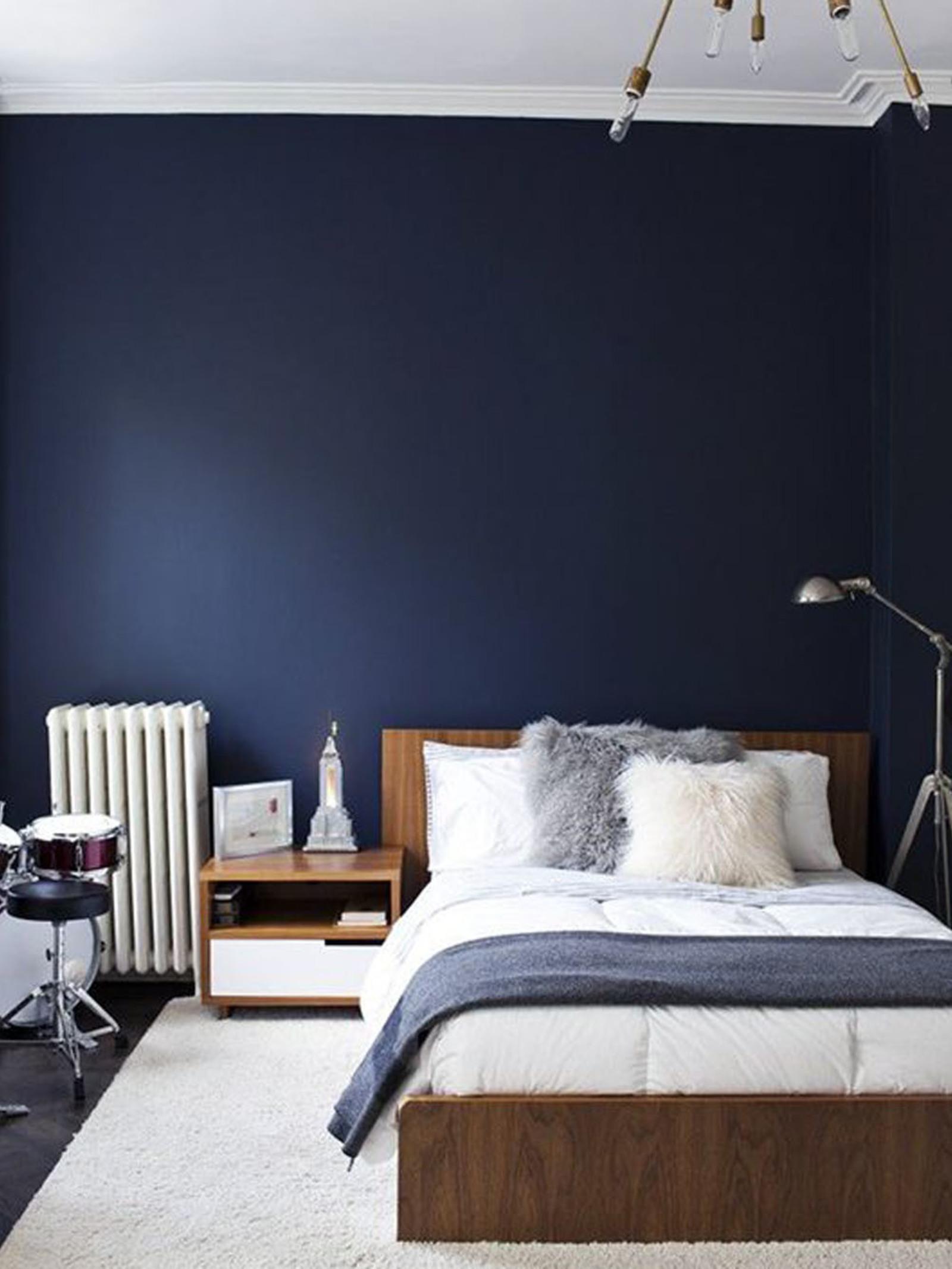 slaapkamer muur kleur bruin
