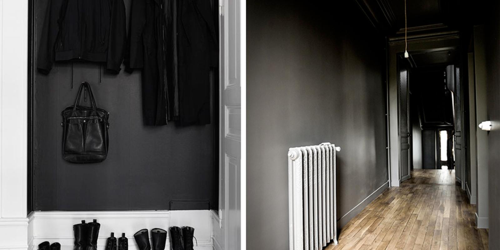 Waarom de hal de perfecte plek is voor een donkere kleur - Kleur voor een entry ...