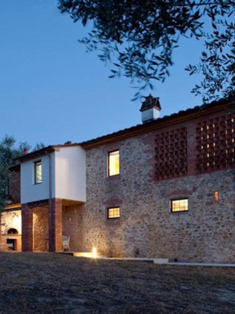 Deze oude toscaanse boerderij is omgetoverd in ons perfecte ...