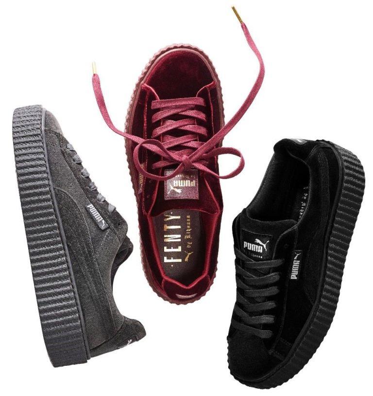 44cceabb59208 Cała kolekcja Puma Fenty by Rihanna jest teraz bardzo na czasie. Są w niej  między innymi futrzane klapki, ale oprócz tego buty, które mi się bardzo ...