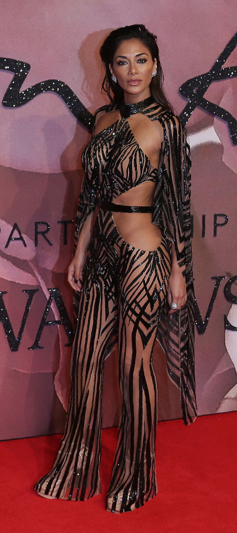 nicole scherzinger british fashion awards